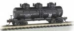 Bachmann 17151 N Scale 3-Dome Tank Car Philadelphia Quartz Co.